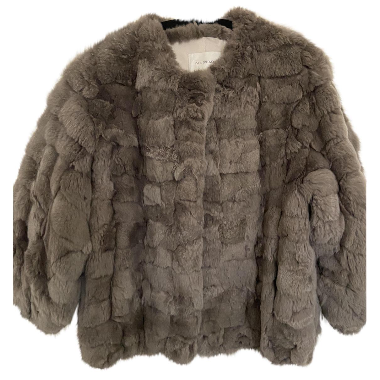 Yves Salomon N Rabbit jacket for Women 36 FR