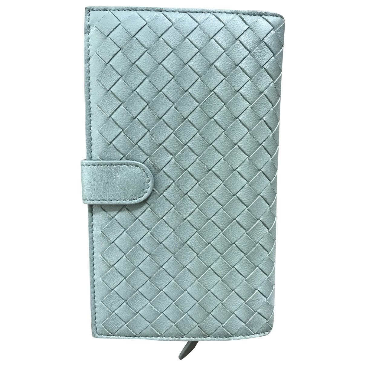 Bottega Veneta Intrecciato Green Leather wallet for Women \N