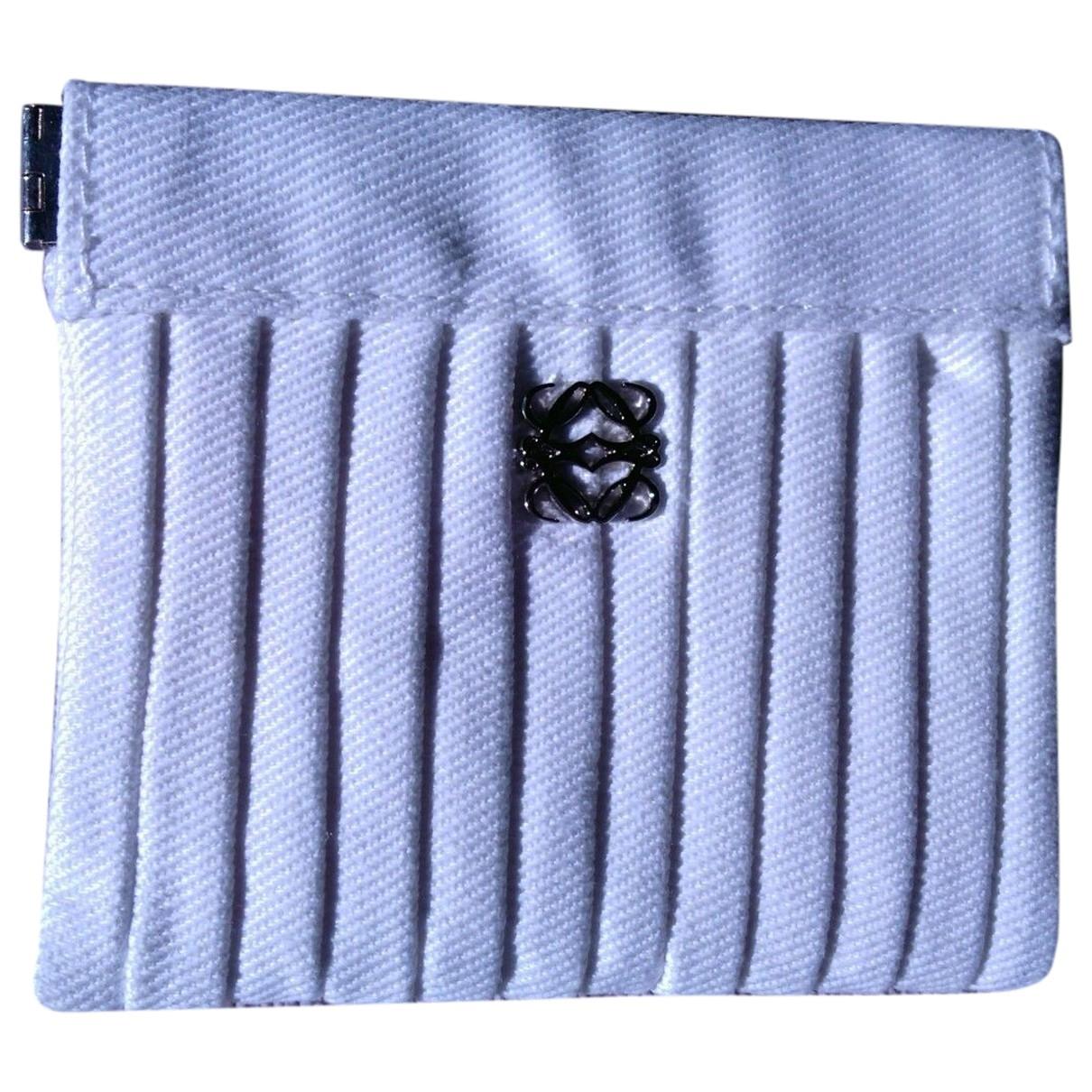 Loewe - Petite maroquinerie   pour femme en toile - blanc