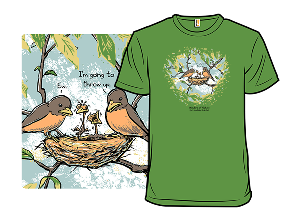 How Baby Birds Eat T Shirt