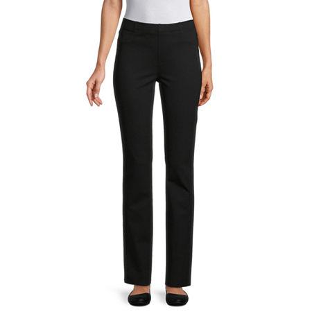St. John's Bay Womens Full Length Leggings, Petite X-small , Black