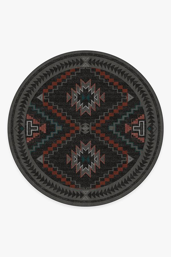 Washable Rug Cover & Pad | Dakotah Charcoal Rug | Stain-Resistant | Ruggable | 8 Round