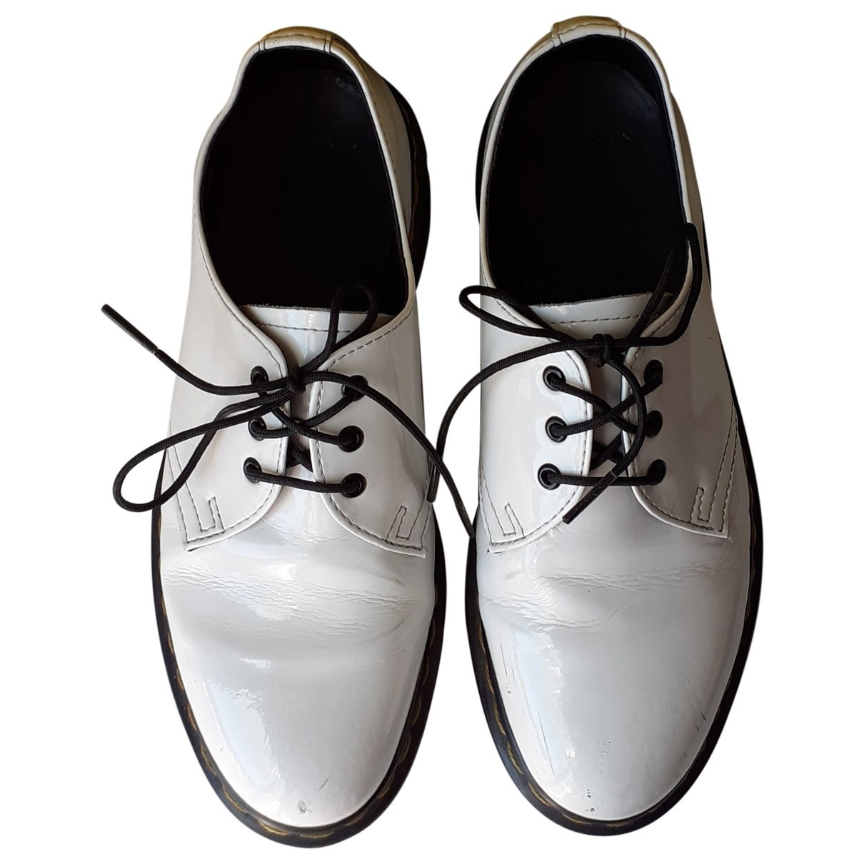 Dr. Martens 1461 (3 eye) White Patent leather Lace ups for Women 38 EU