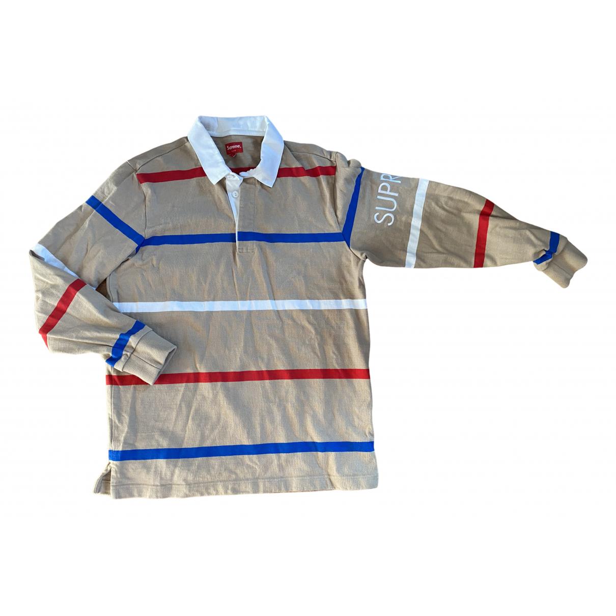 Supreme - Polos   pour homme en coton - beige