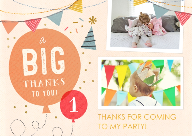 Kids Mail-for-Me Premium 5x7 Flat Card, Card & Stationery -So Much Fun Turning One - Thank You
