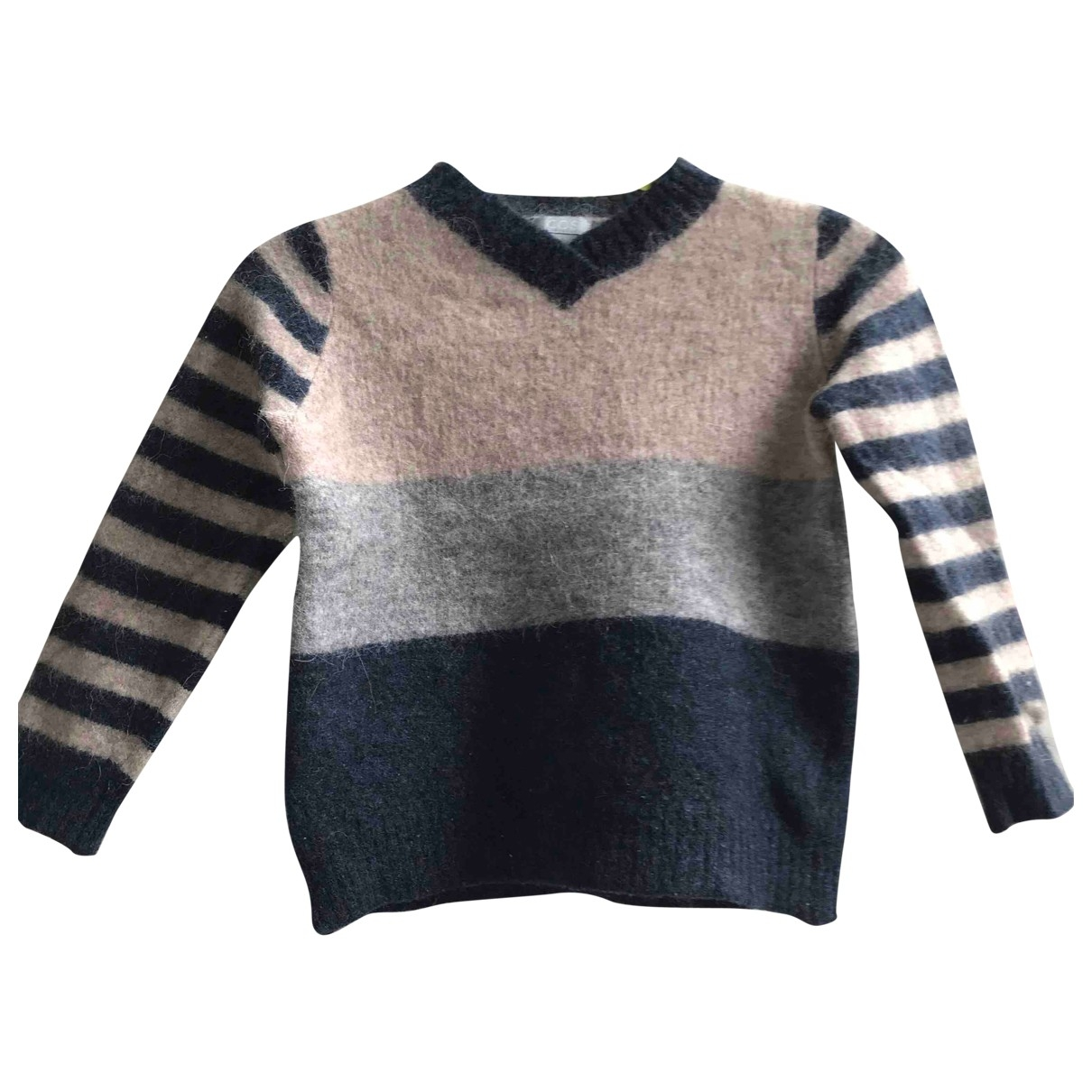 Cos \N Pullover, StrickJacke in  Blau Wolle
