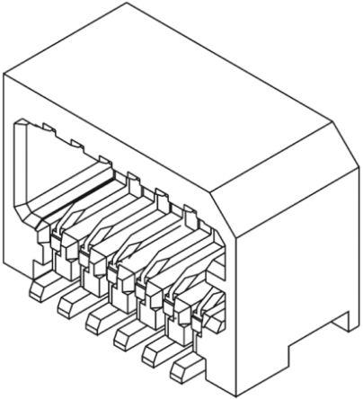 Molex , 53309, 14 Way, 2 Row, Right Angle PCB Header (5)