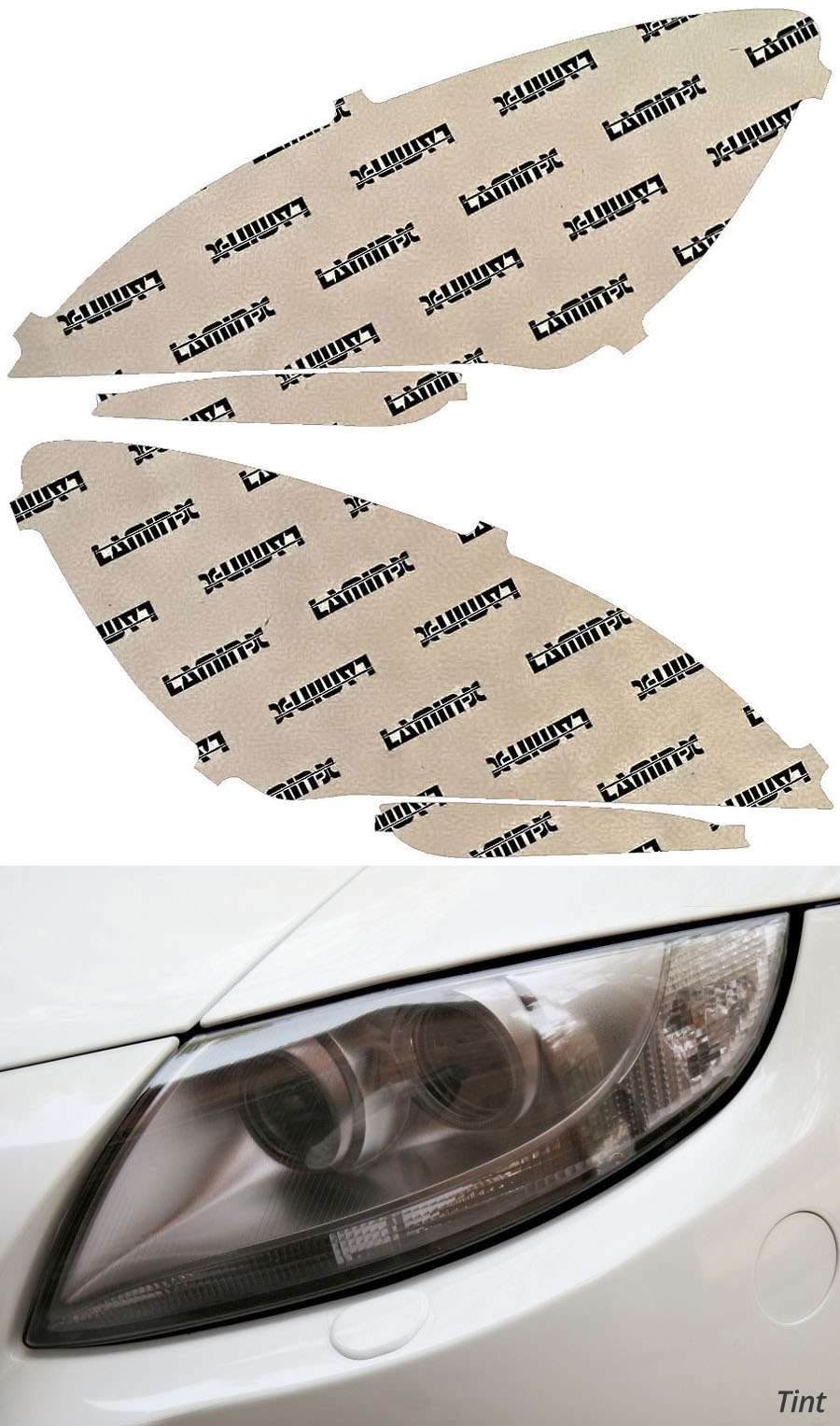 BMW M6 13-19 Tint Headlight Covers Lamin-X B042T