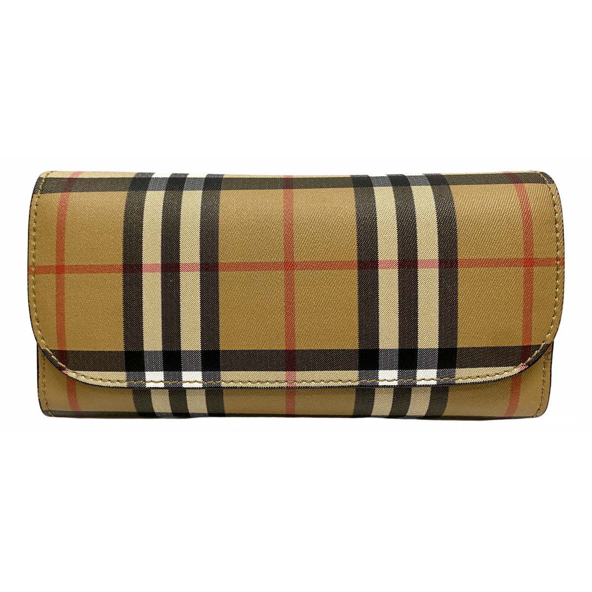 Burberry N Camel Cloth wallet for Women N