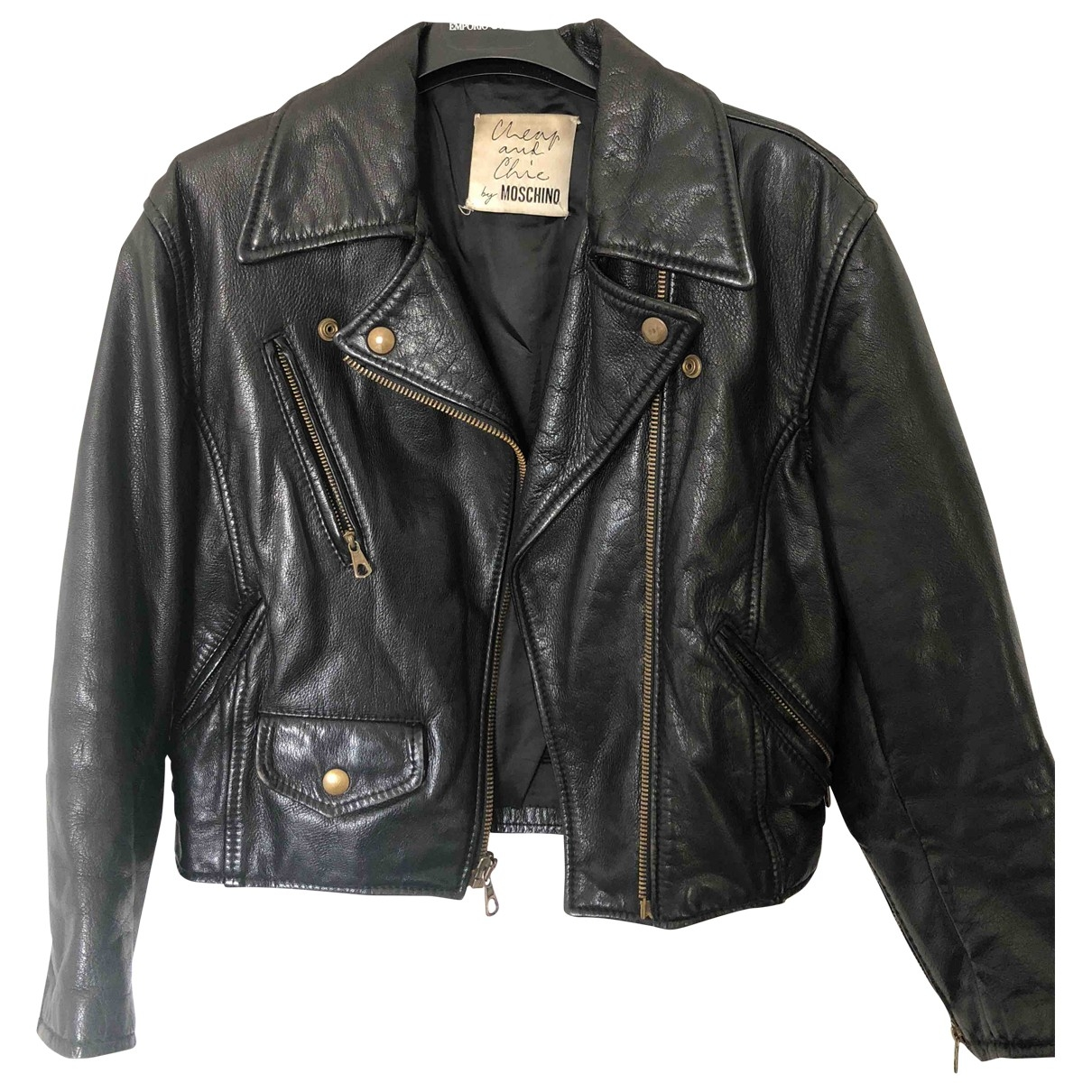 Moschino Cheap And Chic \N Black Leather jacket for Women 42 IT