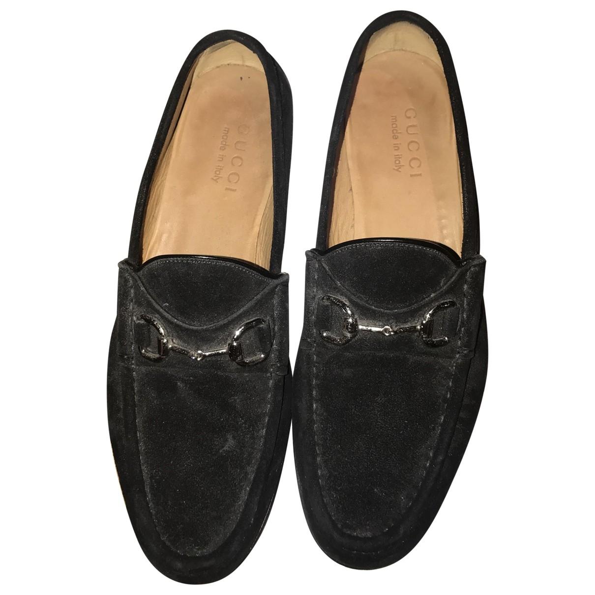 Gucci - Mocassins   pour homme en velours - noir