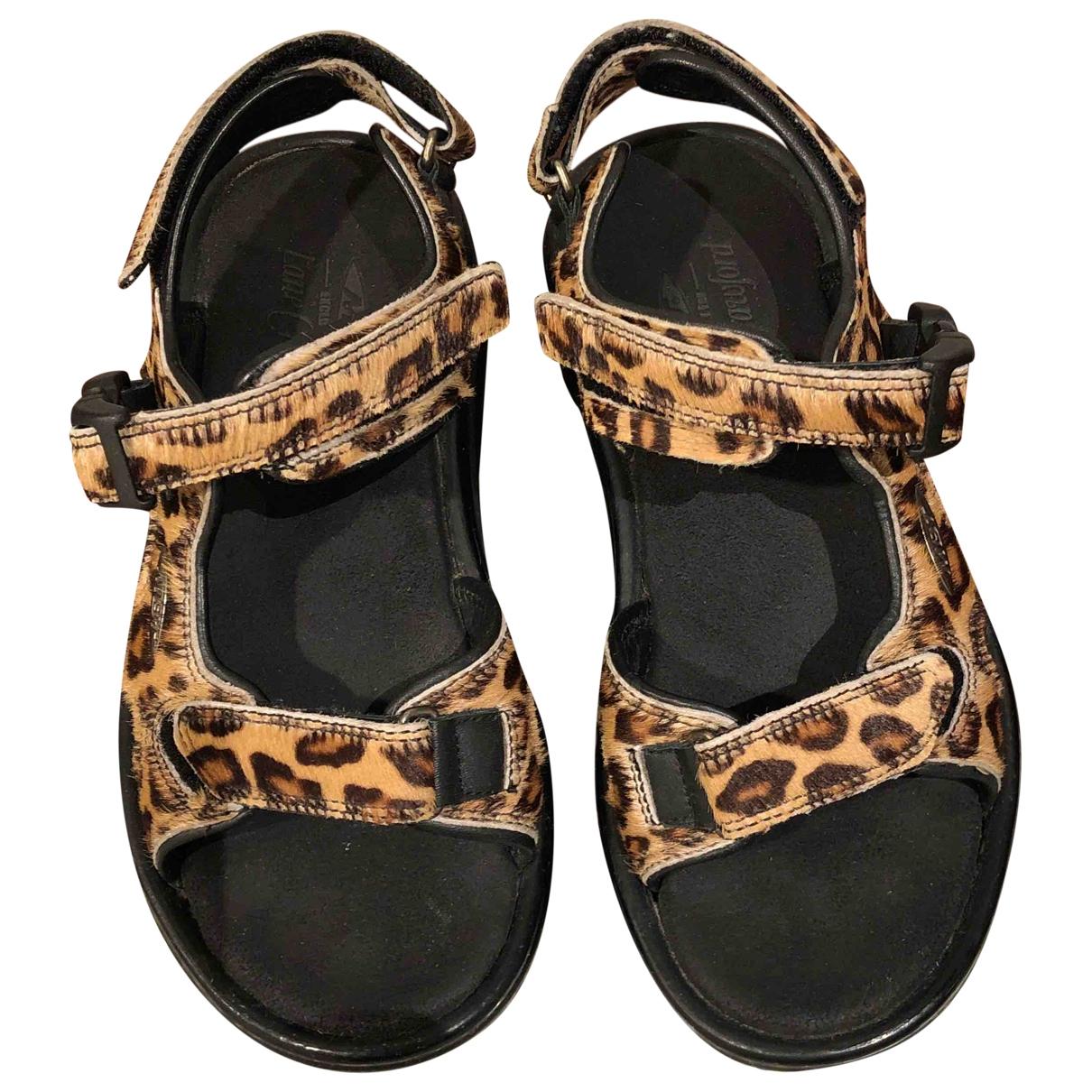 Non Signé / Unsigned \N Camel Rubber Sandals for Women 35 EU