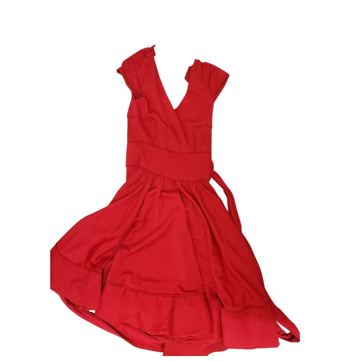 Diane Von Furstenberg \N Red Wool dress for Women 8 UK