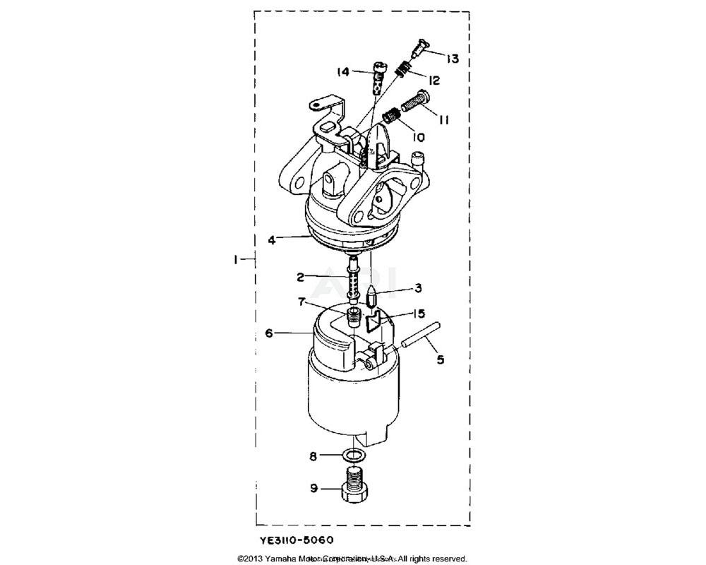 Yamaha OEM YF1-39014-47-80 PIN,ARM