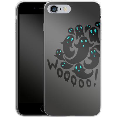 Apple iPhone 6s Plus Silikon Handyhuelle - WOOOOO Ghosts von caseable Designs