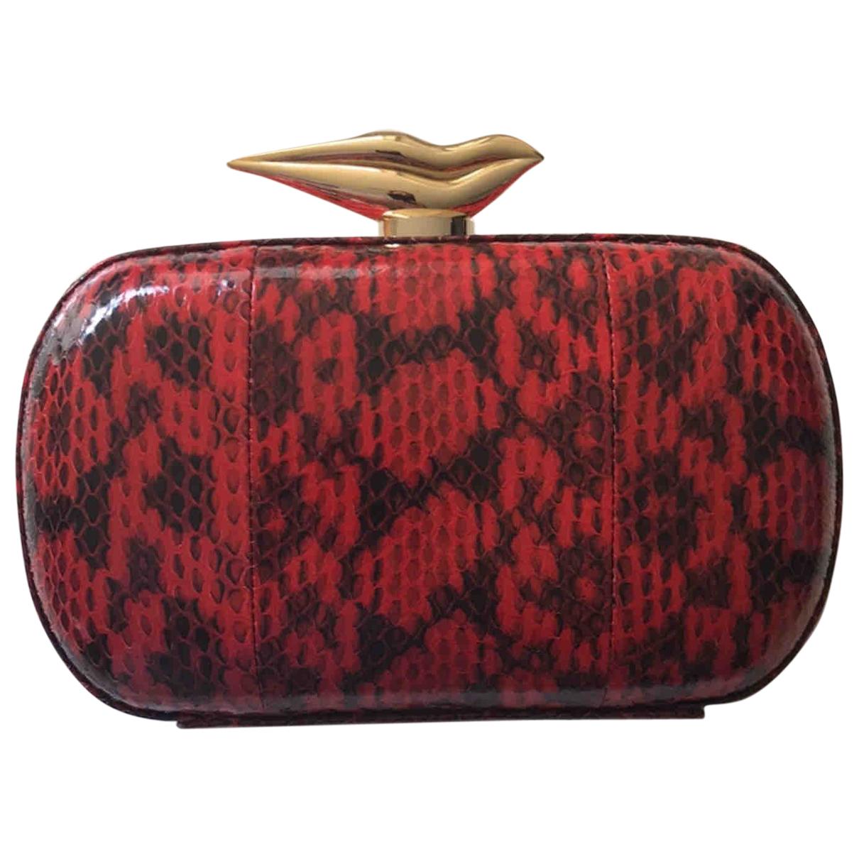 Diane Von Furstenberg \N Clutch in  Rot Leder