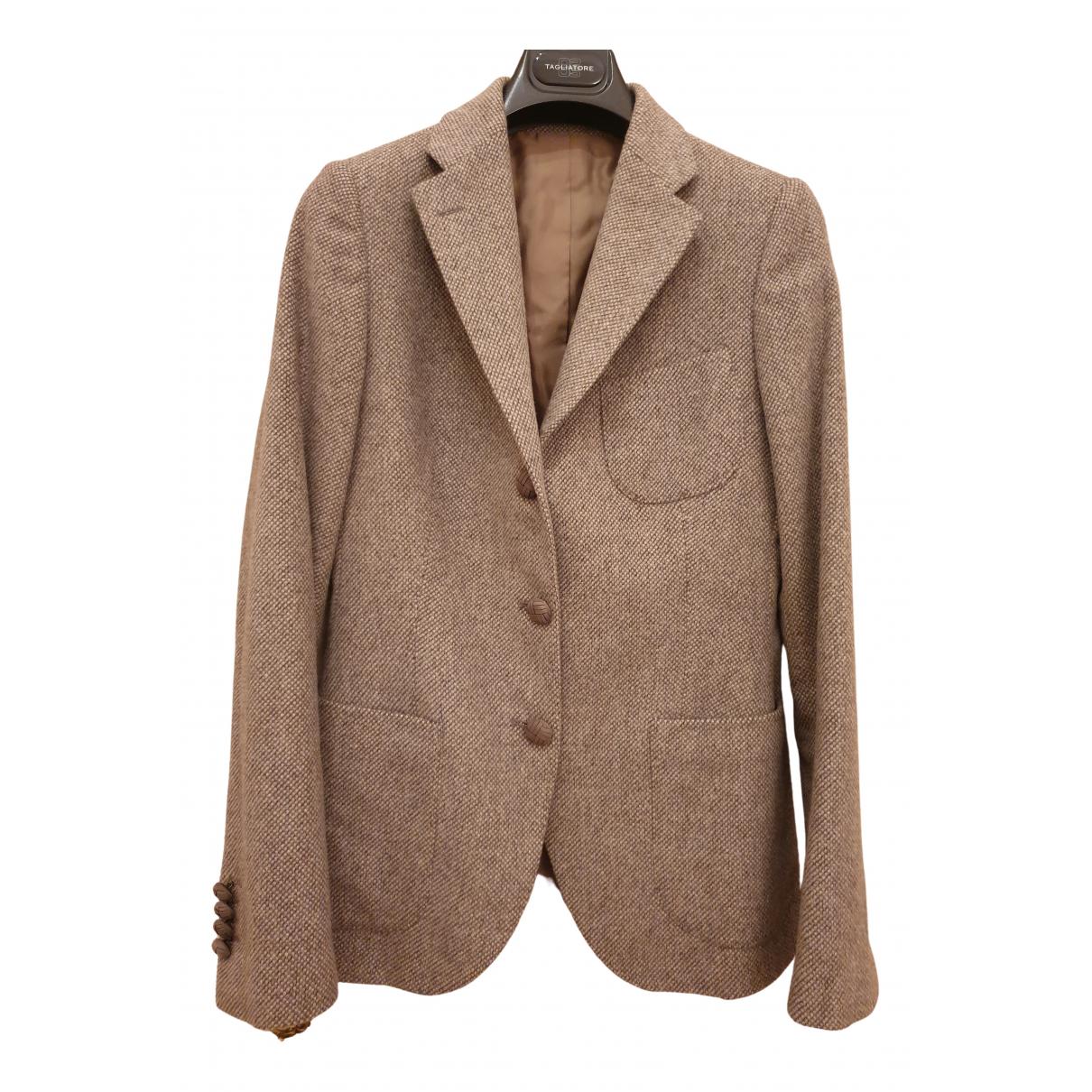 Tagliatore N Beige Wool jacket for Women 44 IT