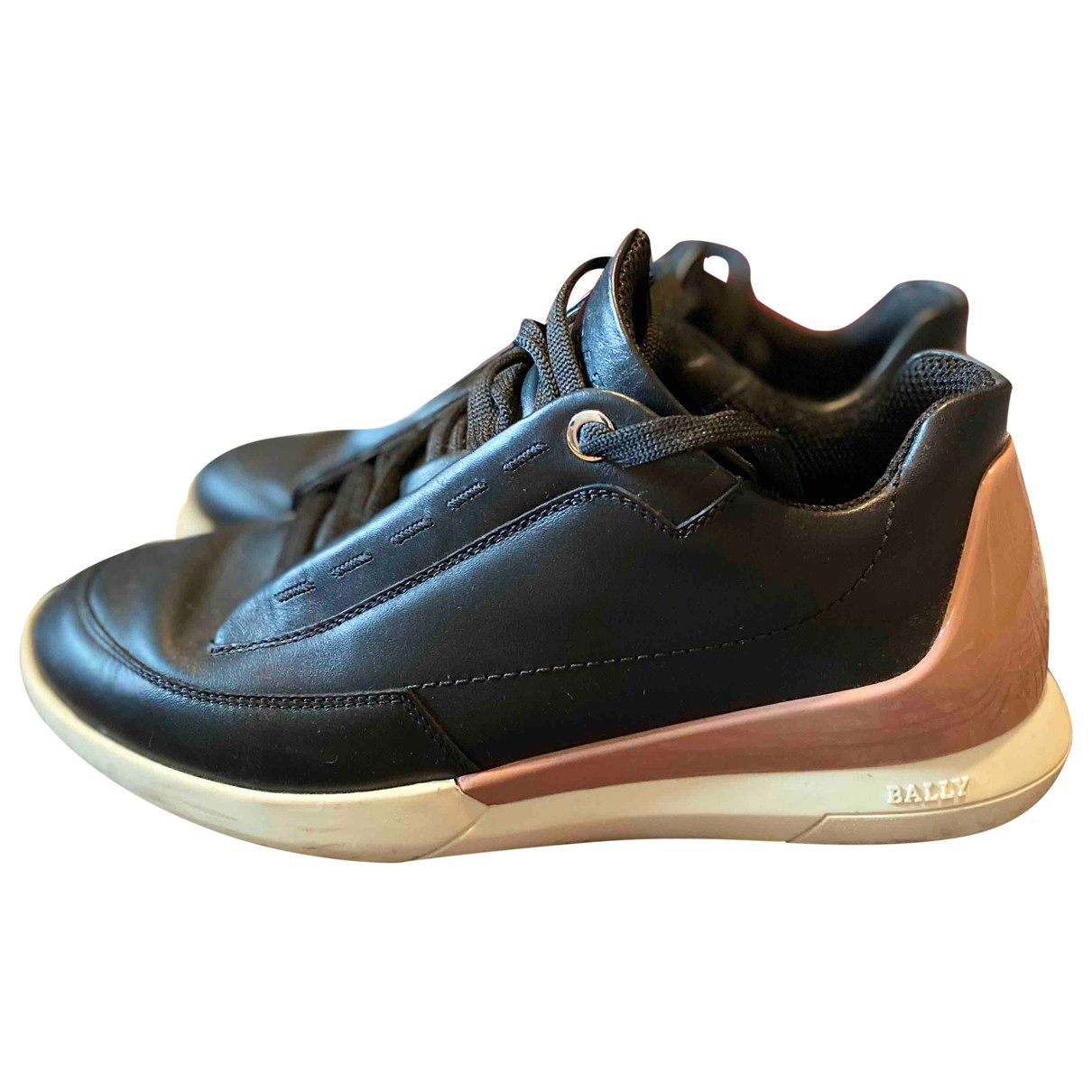 Bally N Black Leather Trainers for Women 36 EU