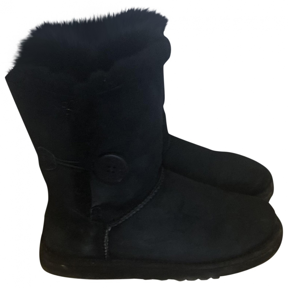 Ugg \N Black Suede Boots for Women 36 EU