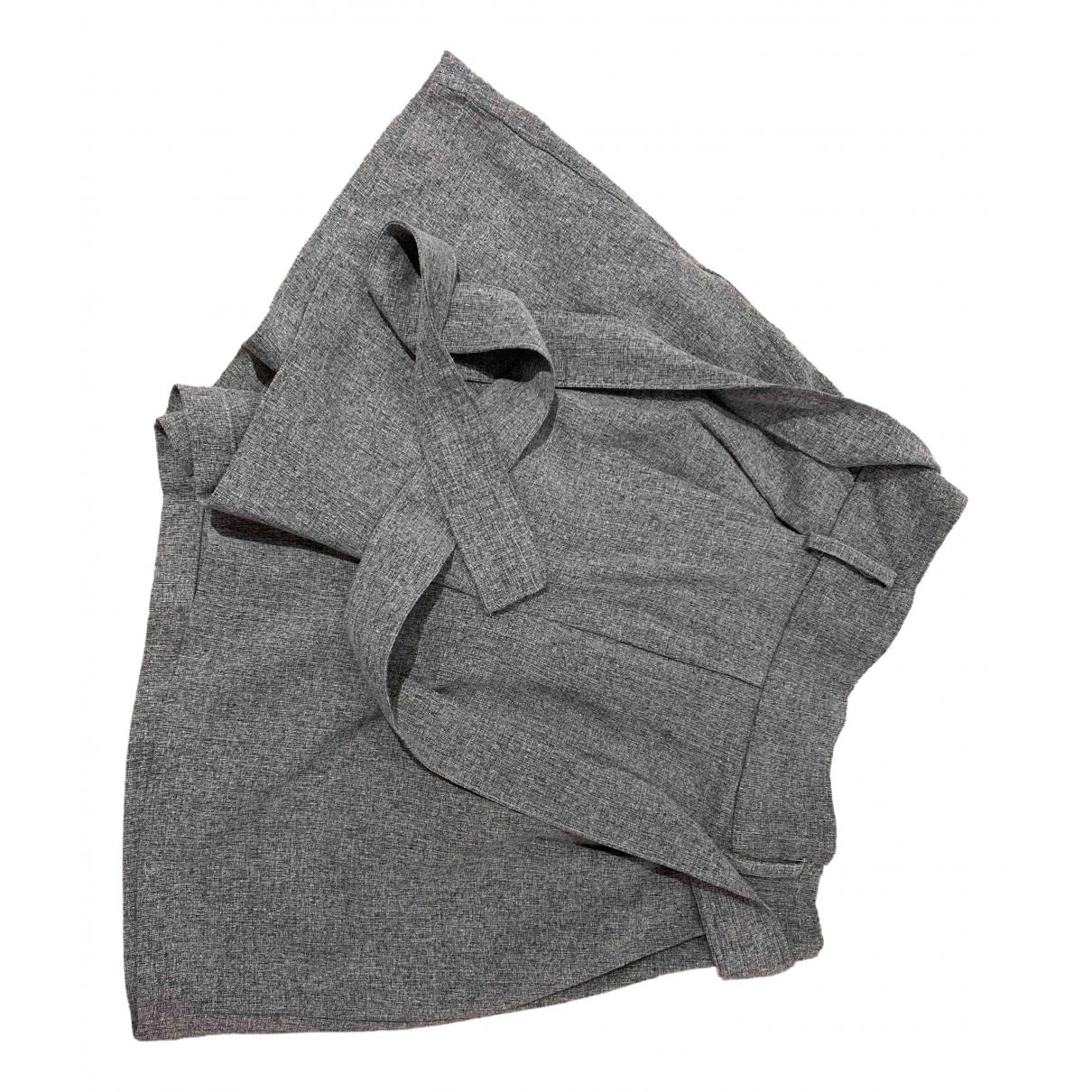 Zara \N Grey Cotton Shorts for Women 36 FR
