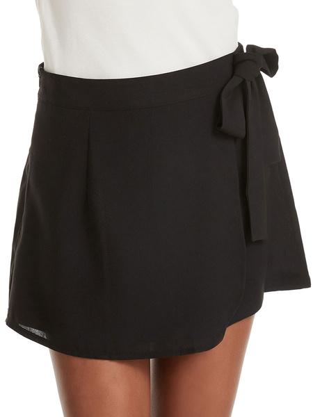 Milanoo Pantalones cortos de mujer Casual con cordones Poliester Pantalones cortos de moda Pantalones cortos de verano