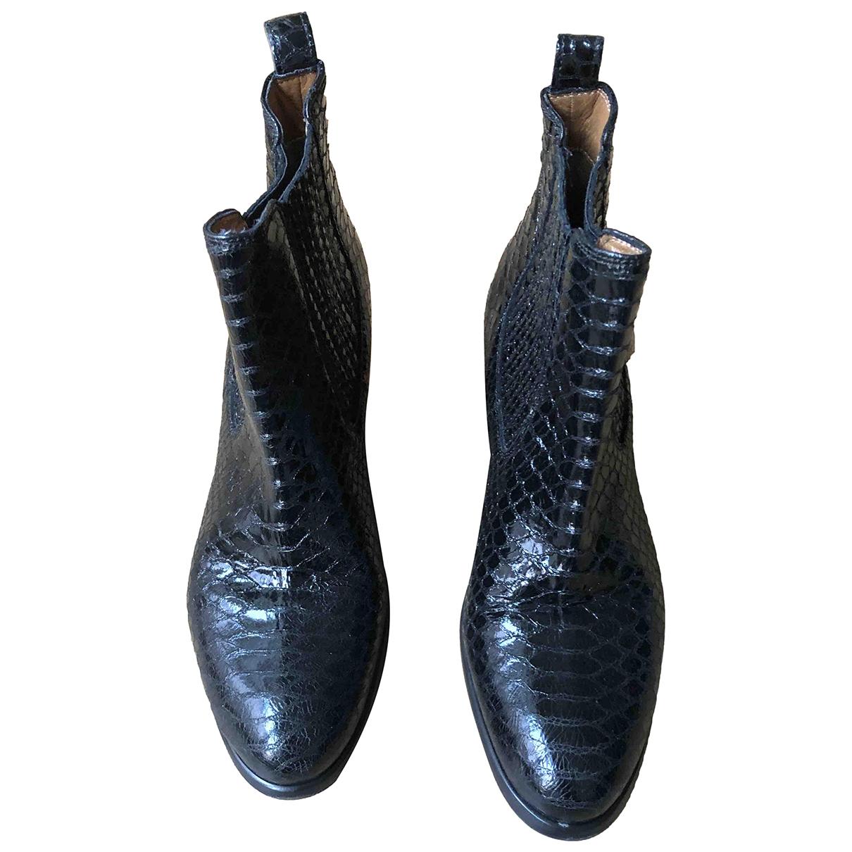 Carel - Boots   pour femme en cuir - noir