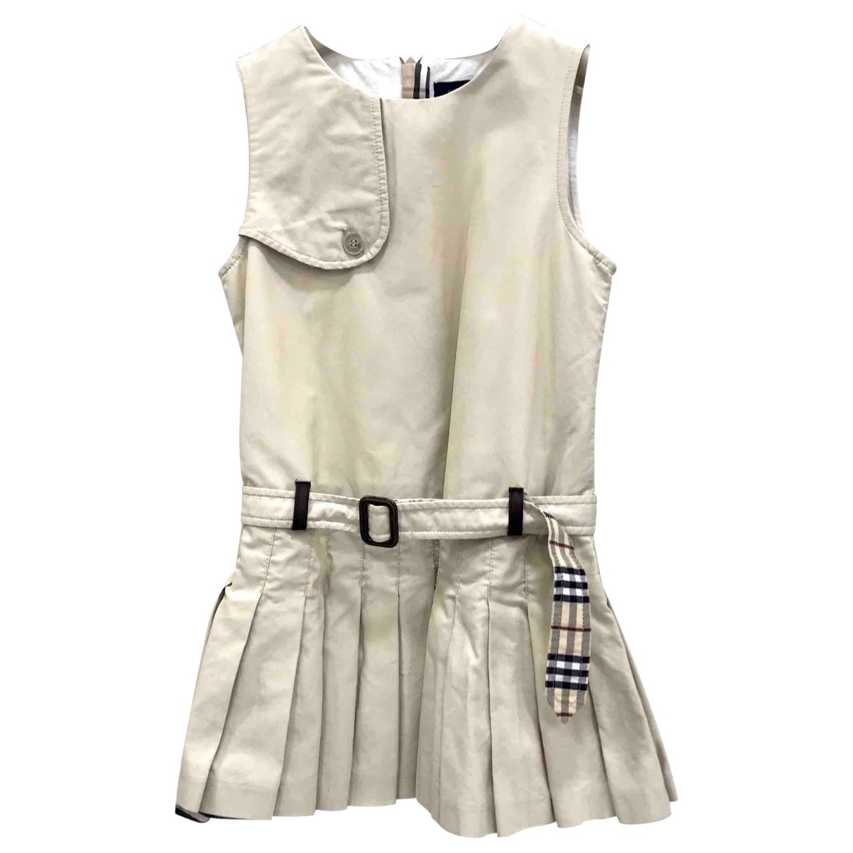 Burberry \N Beige Cotton dress for Kids 3 years - up to 98cm FR