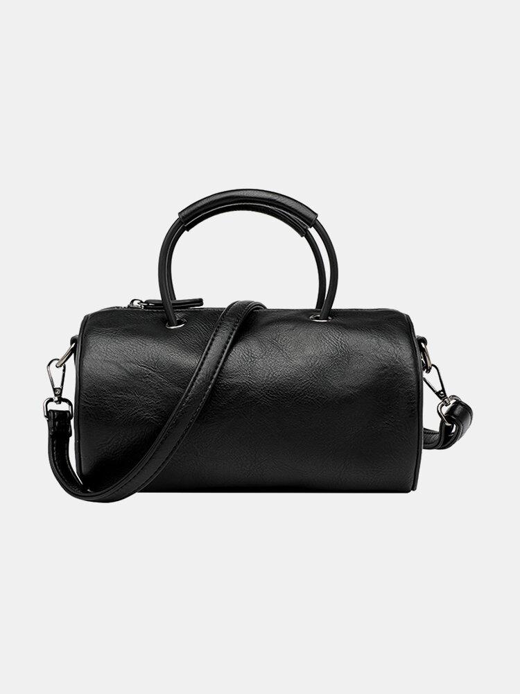 Women Casual Solid Cylinder Bag Crossbody Bag Shoulder Bag Satchel Bag