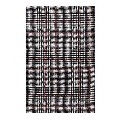 Kaja Collection R-1024A-810 Abstract Plaid 8x10 Area Rug in Ivory  Black and Red