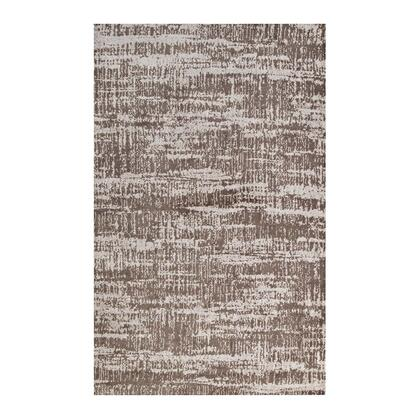 Darja Collection R-1023A-810 Distressed Rustic Modern 8x10 Area Rug in Light and Dark Tan