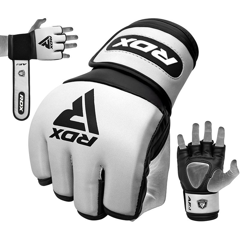 RDX RF1 Pro MMA Fight Competition Gloves 4oz Padded Extra Large White/Black