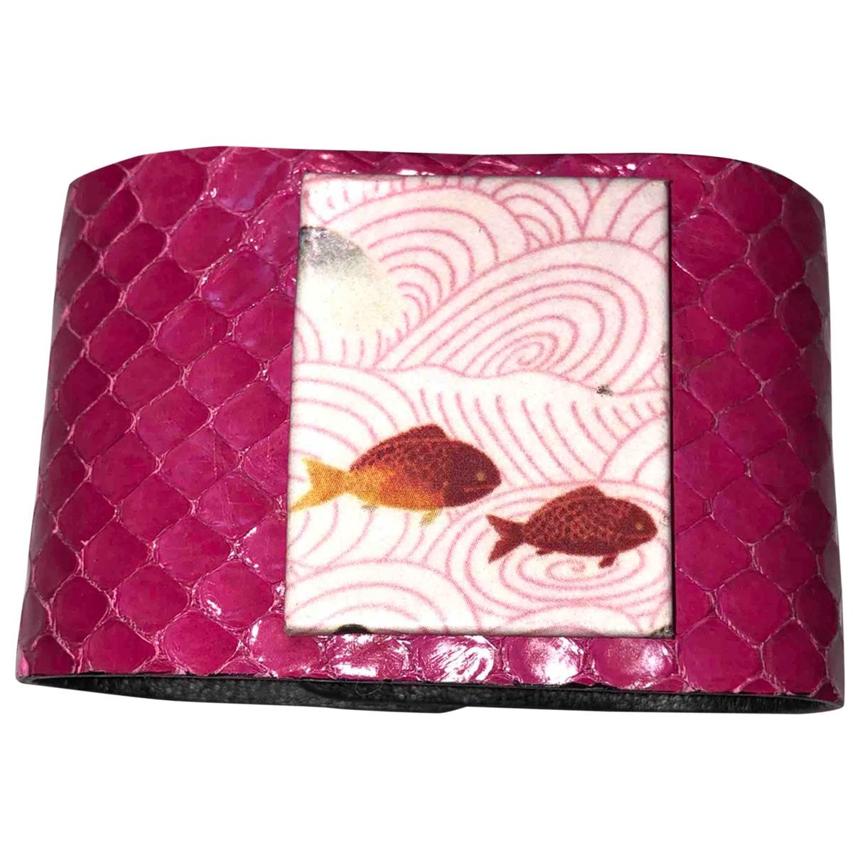 - Bracelet   pour femme en python - rose