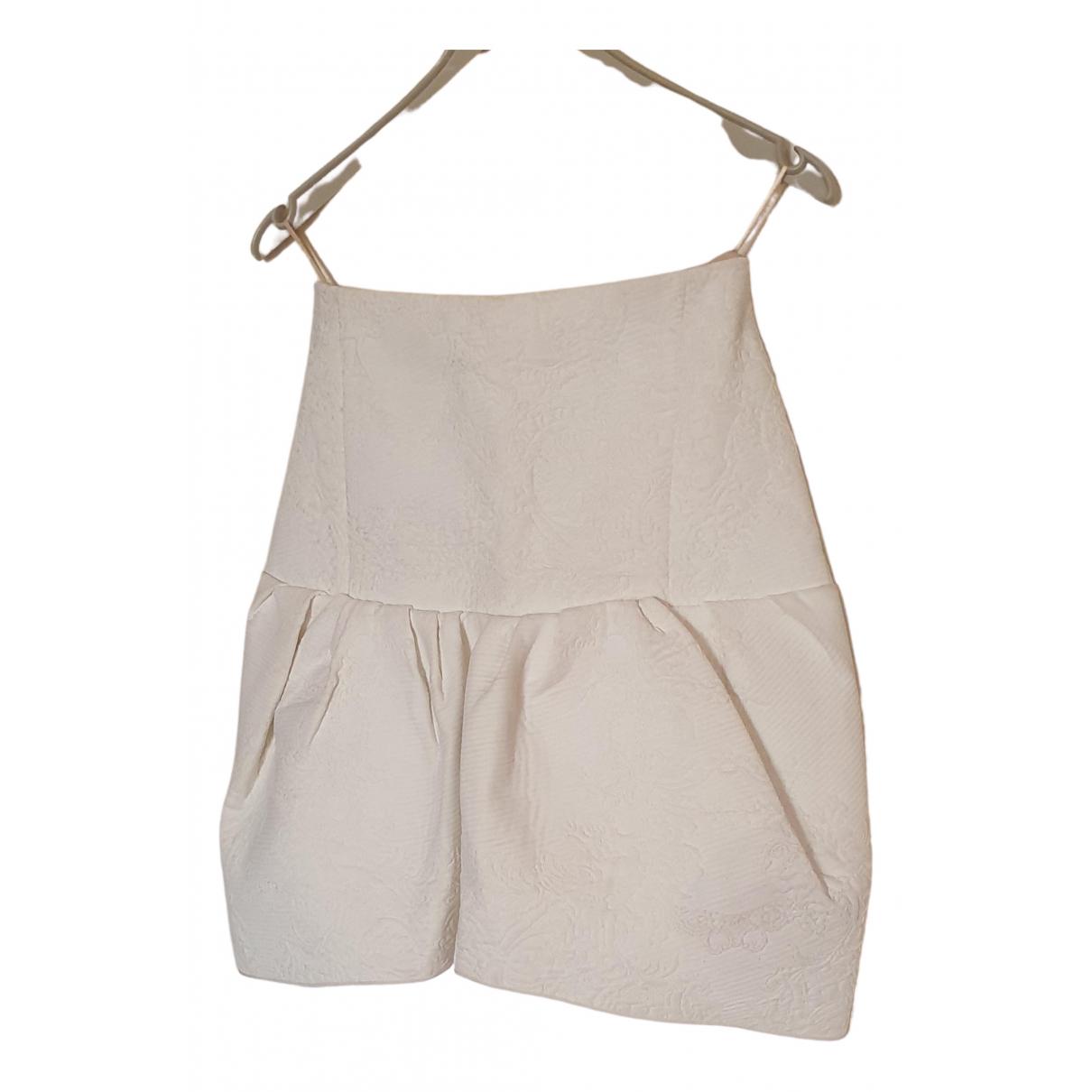 Chloé \N White Silk skirt for Women 36 FR