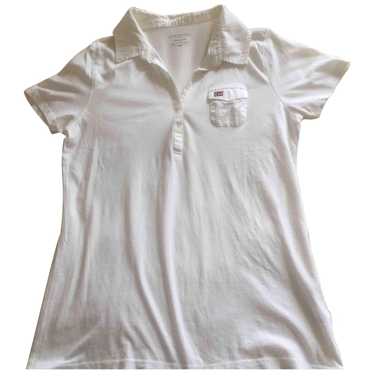 Napapijri - Top   pour femme en coton - blanc