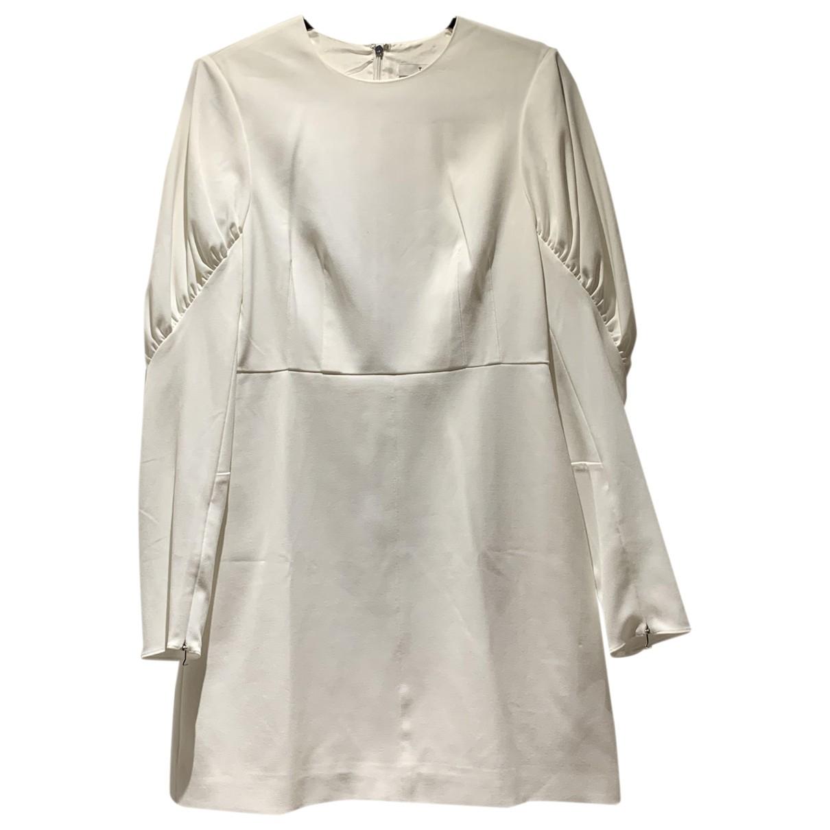 Tibi \N Kleid in  Weiss Baumwolle - Elasthan