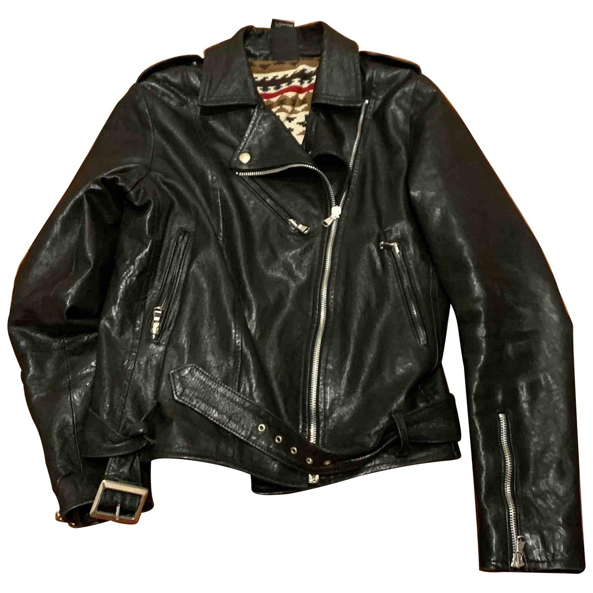 - Blousons.Manteaux   pour enfant en cuir - noir