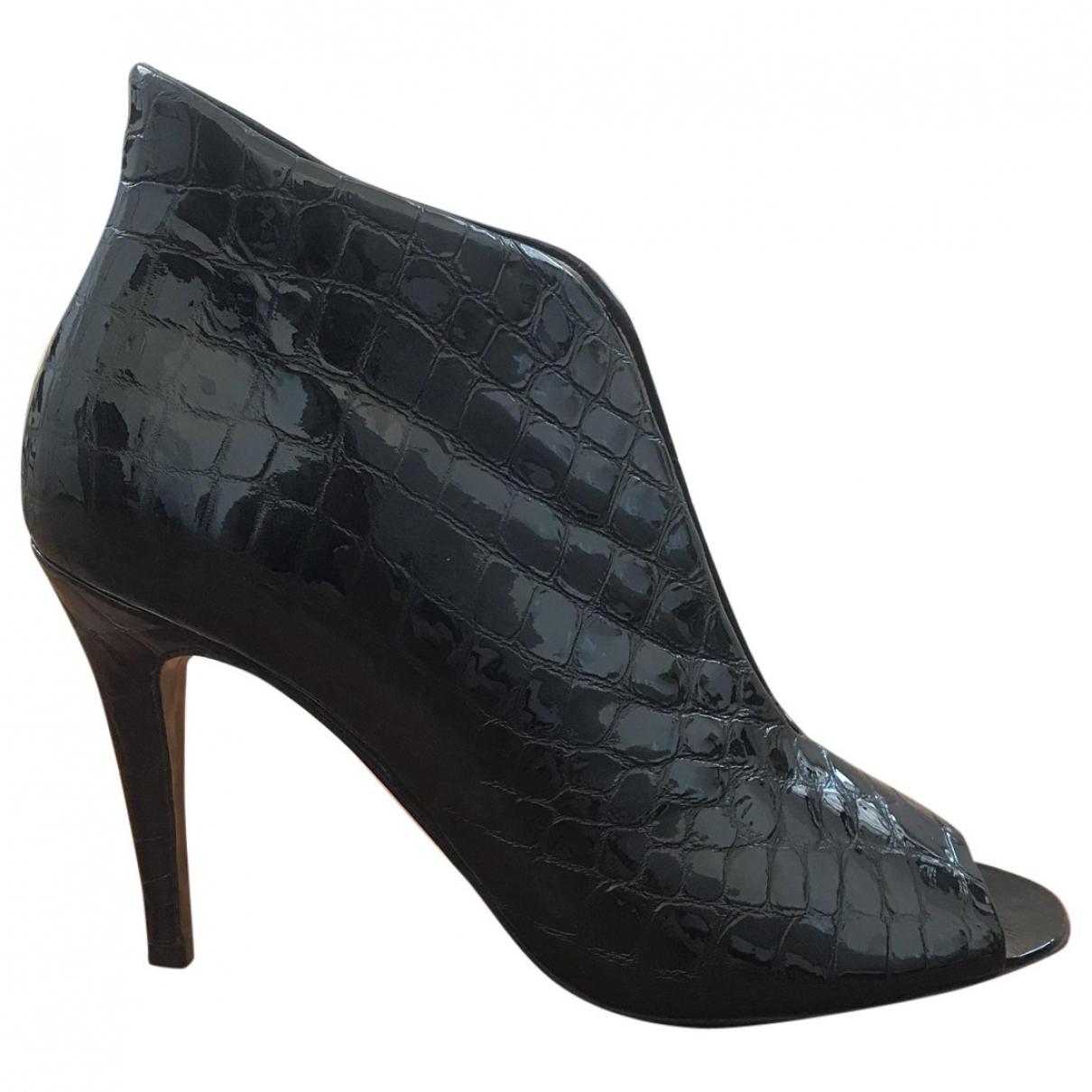 My Suelly - Boots   pour femme en cuir verni - noir