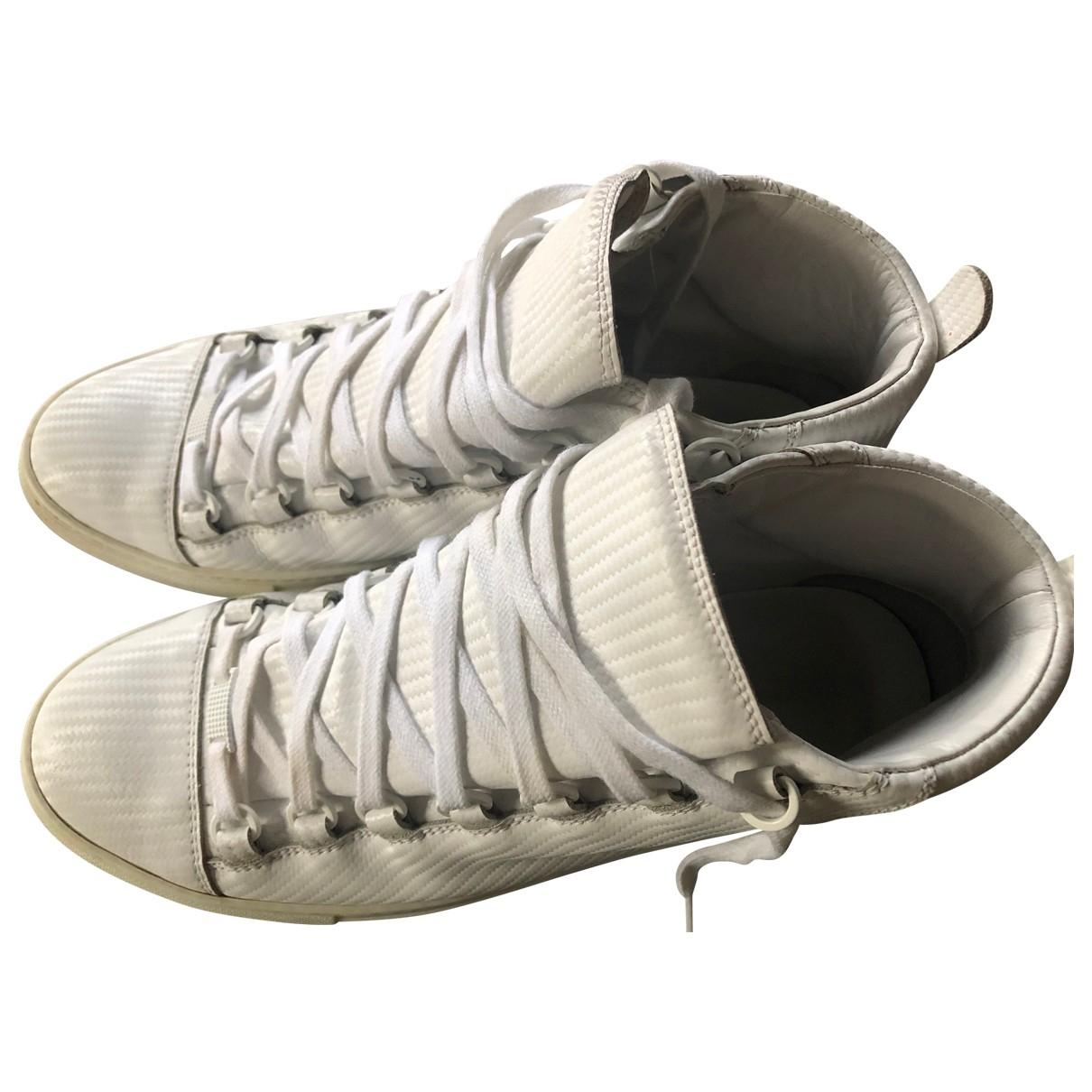 Balenciaga - Baskets   pour homme en cuir - blanc