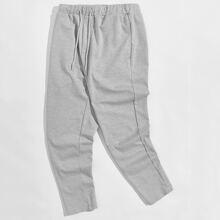 Pantalones deportivos de cintura con cordon