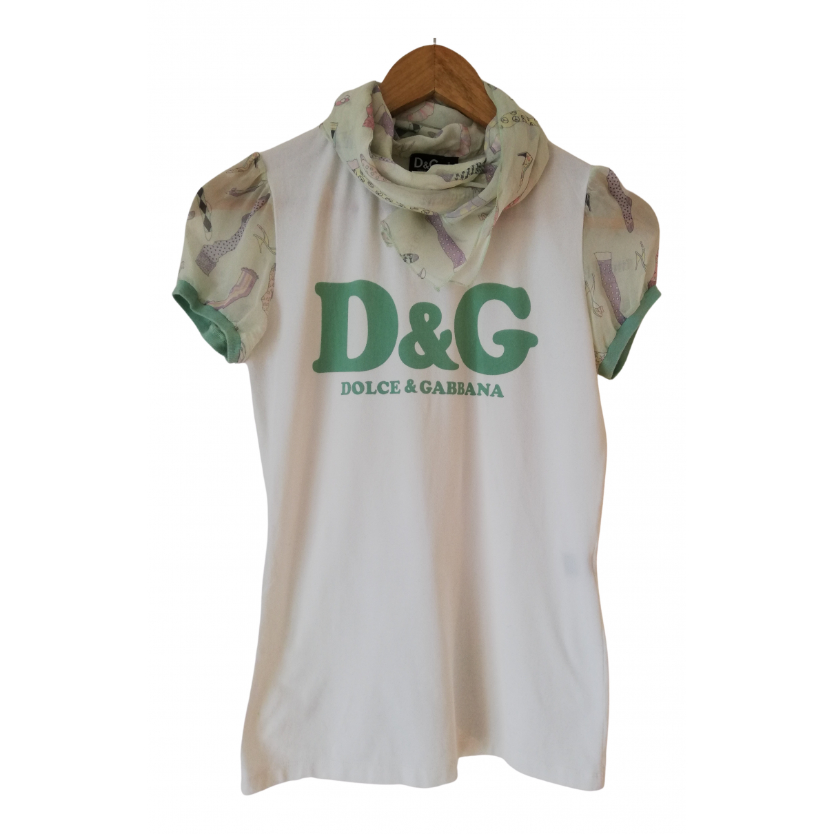 D&g N White Cotton  top for Women S International