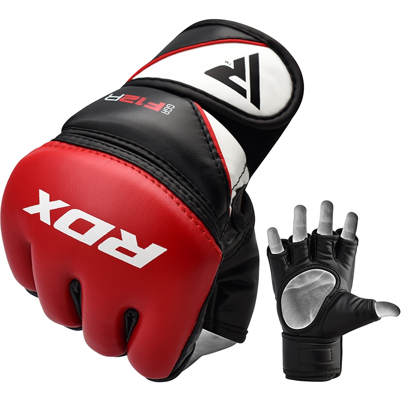 RDX F12 Training, Grappling MMA Gloves PU Leather Medium Red/Black/White