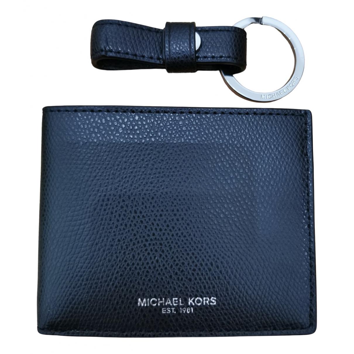 Michael Kors \N Black Leather Small bag, wallet & cases for Men \N