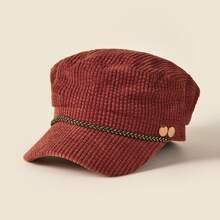 Ribbed Baker Boy Hat
