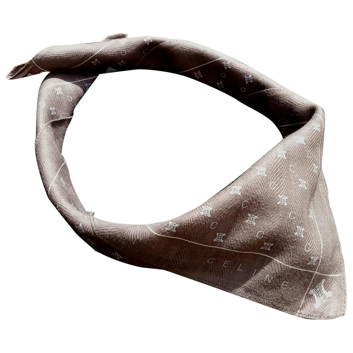Celine - Foulard   pour femme en coton - gris