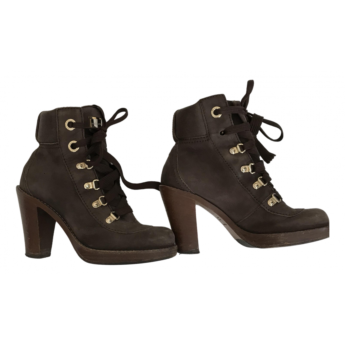 Dolce & Gabbana \N Brown Suede Ankle boots for Women 35 EU