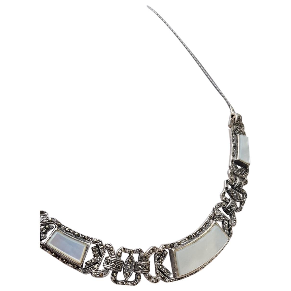 - Collier Art Deco pour femme en argent - argente