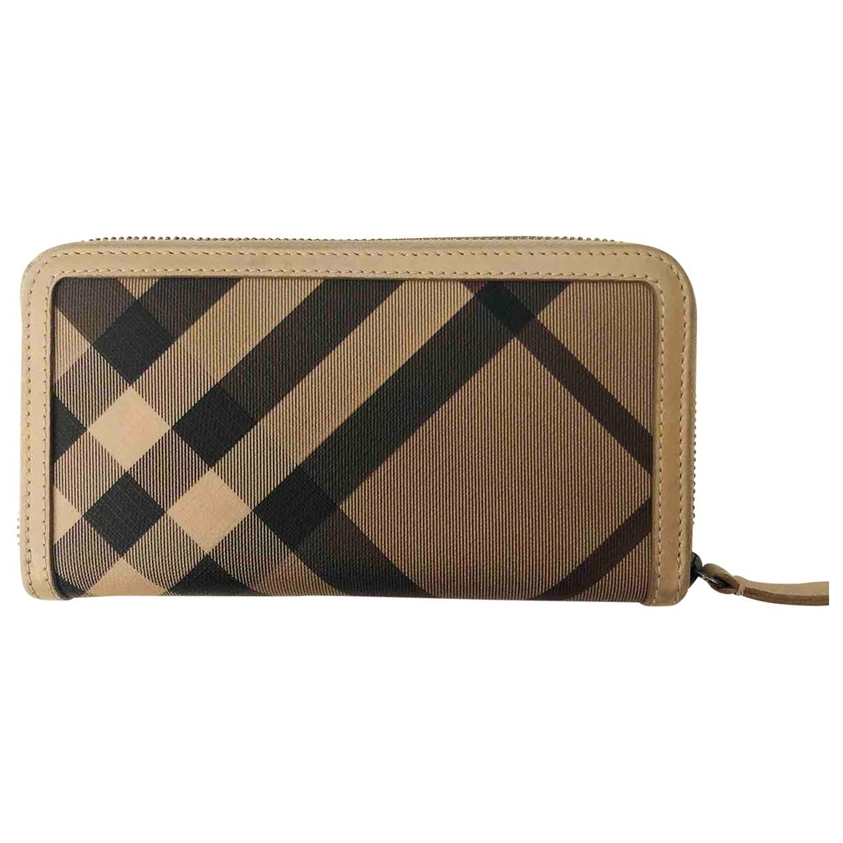 Burberry \N Beige Cloth wallet for Women \N