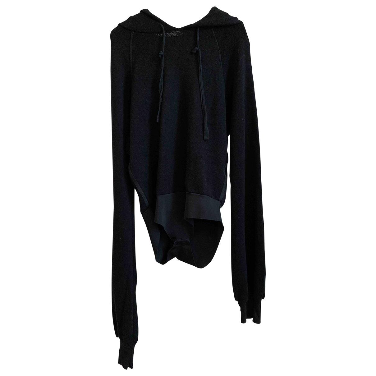 Unravel Project - Pull   pour femme en coton - noir