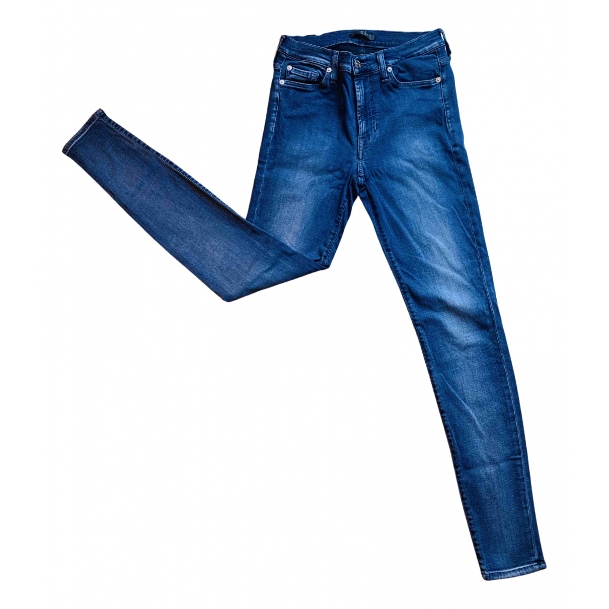 7 For All Mankind N Blue Cotton - elasthane Jeans for Women 27 US