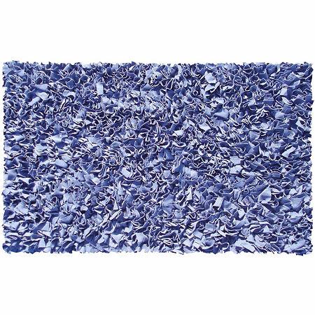 Rug Market Shag Rectangular Rugs, One Size , Blue